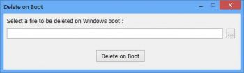скриншот Delete On Boot