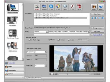 скриншот NNC Video Tools