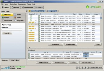 скриншот LimeWire for Windows