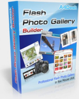 скриншот A4Desk Flash Photo Gallery Builder