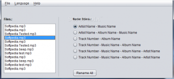 скриншот Mp3NameEditor